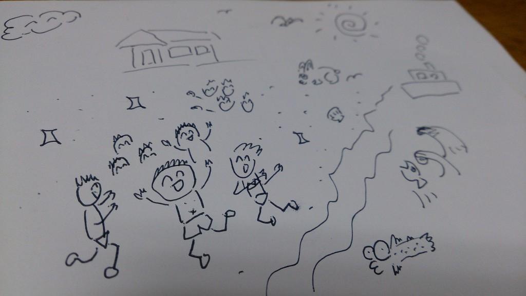作品名「修学旅行。。。。。」 作画: パブロ・ディエーゴ・ホセ・フランシスコ・(中略)・G