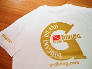 GダイビングオリジナルTシャツ ホワイト